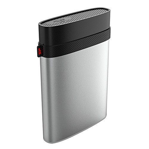 """Silicon Power 1TB Type C USB 3.0 Rugged Armor A85M for Mac Military-grade Shockproof / IP68 Waterproof & Dustproof 2.5"""" External Hard Drive - HFS+ and Time Machine Supported Silver"""
