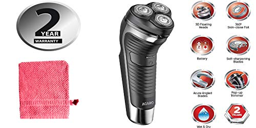 Agaro WD 851 Wet and Dry Electric Shaver With Free Dust Mat (Black)