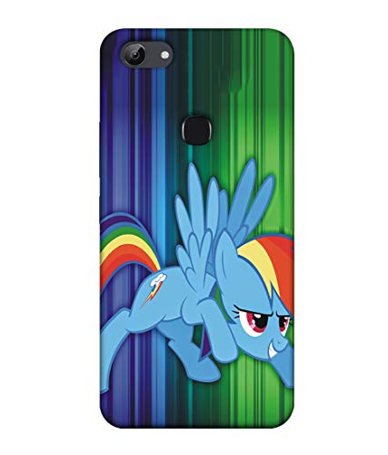 S SMARTY Rainbow Dash Printed Hard Case Mobile Back Cover for Vivo Y83