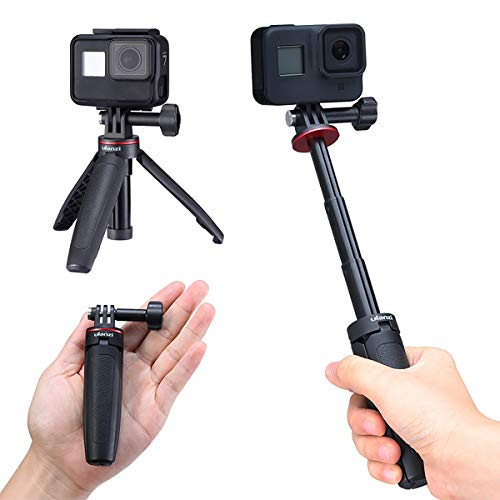 YILIWIT Extendable Selfie Stick for Gopro, Portable Vlog Selife Stick Tripod Stand for Gopro Hero 8/7/6/5 Black/Gopro Max DJI Osmo Action Insta 360 Action Camera Accessory Kits