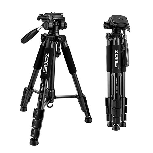 "ZORBES® ZOMEI 55"" Compact Light Weight Travel Portable Folding SLR Camera Tripod for Canon Nikon Sony DSLR Camera Video with Carry Case(Black)"