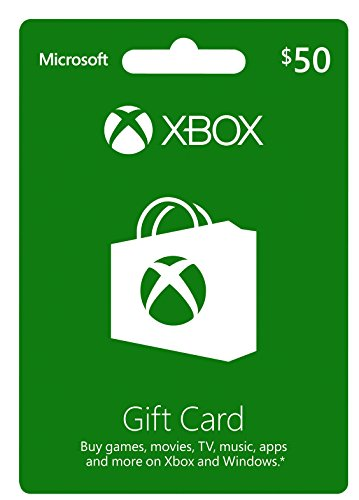 Microsoft Xbox $50 Gift Card