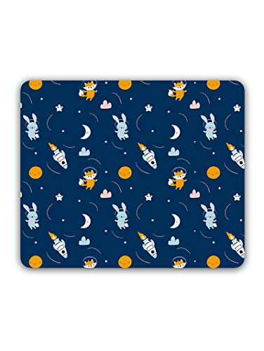 Madanyu Designer Mousepad Non-Slip Rubber Base for Gamers - HD Print - Rabbit Fox in Star