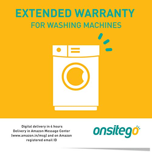Onsitego 1 Year Extended Warranty for Washing Machines (Rs. 50001 to Rs. 75000) (Email Delivery in 2 Hours)