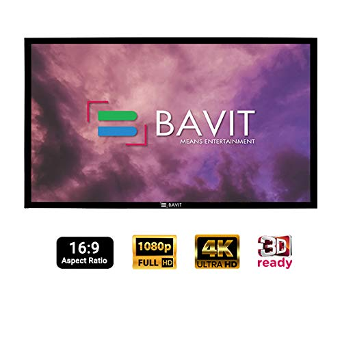 Bavit 240 Inches Diag. in 16:9 Ratio Fixed Frame Projection Screen