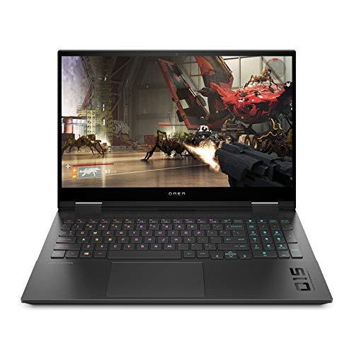 HP Omen 10th Gen Intel Core i5 Processor 15.6-inch FHD Gaming Laptop (i5-10300H/8GB/512GB SSD/Windows 10/NVIDIA GTX 1650 4GB/Shadow Black/2.36 kg), 15-ek0015TX