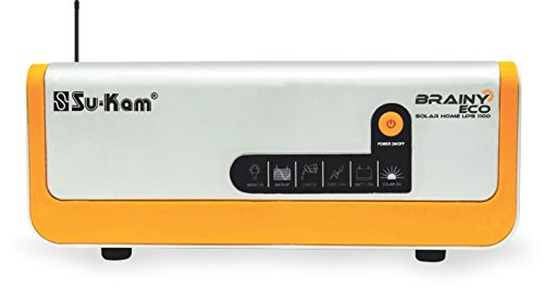 Sukam Su-Kam Brainy Eco 1100/12V Solar Power Conditioning Unit with in-Built Solar Charge Controller (White)