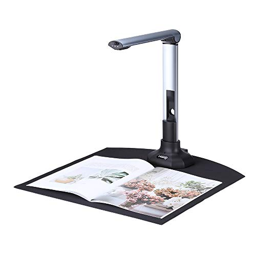 Leeofty BK52 Portable Book & Document Camera Scanner Capture Size A3 HD 10 Mega-Pixels USB 2.0 High Speed Scanner with LED Light for ID Cards Passport Books Watermarks Setting PDF Format Export
