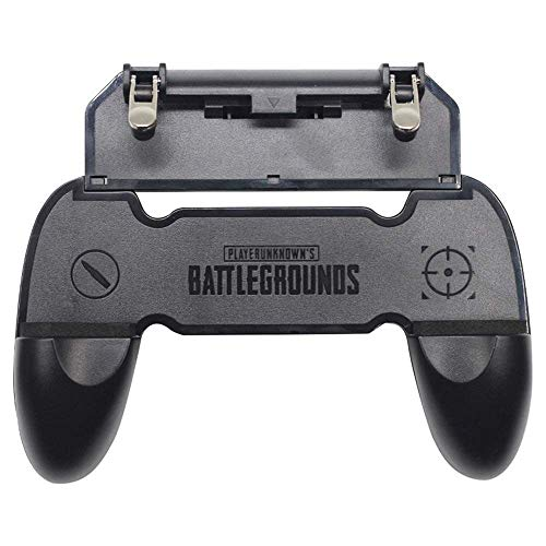 Gamepad W10 Handle Grip Wireless Controller Joystick for PubG with Metal Buttons Trigger Key for All Smart Phone Gaming (Black) by Suckey
