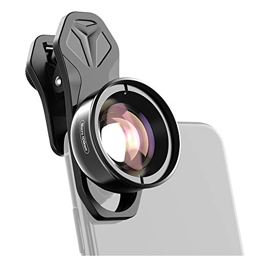 KKmoon-1 APL-HB100mm Universal Smartphone Macro Lens 4K HD Phone Camera Lens No Distortion Blurry Background Compatible with iPhone 11/XS/XS Max/XR/X/8/8 Plus