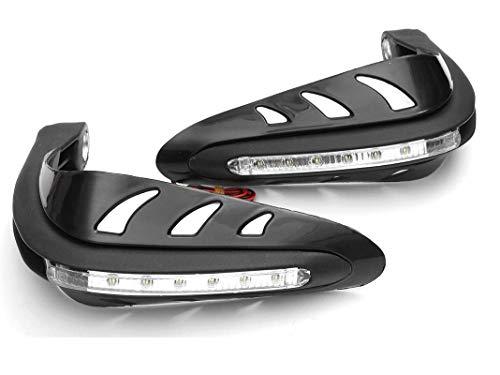 """PA Motorcycle Handguards with Led Light for 7/8"""" Grips - 300 * 140 * 110Mm (Black) for Bajaj Avenger Cruise 220"""