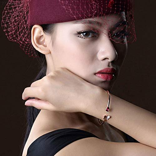 ELECTROPRIME B7C1 Bangle Alloy Rhinestone Accessories Women Elegant Jewelry Gifts