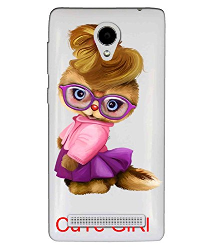 Snooky Printed Cute Girl Mobile Back Cover of Vivo Y28 - Multicolour