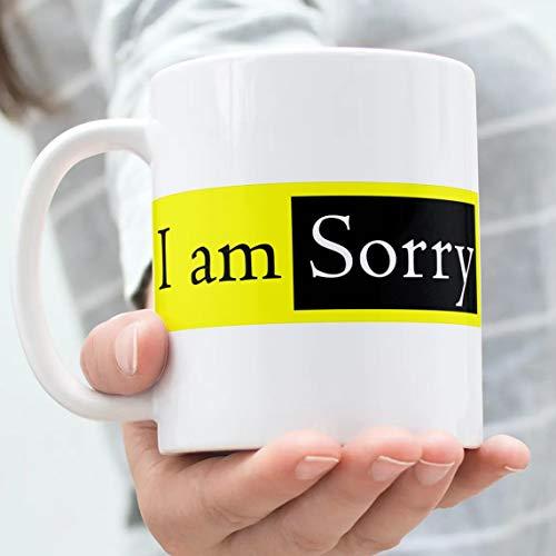 "360Edutech, I am Sorry Coffee Mug Cup, 11OZ / 325ML, Merchandise, Gift, Accessories, ""A"" Grade Ceramic, Food Grade Long Lasting Print, Microwave & Dishwasher Safe, IASMV2"