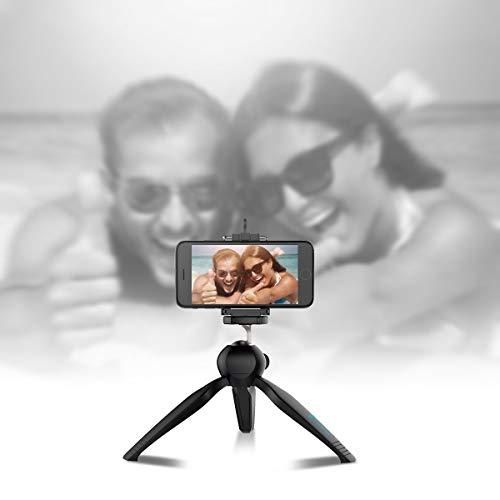 ehook Mini Tripod Smartphone Stabilizer Rig, Hand Grip, Rotatable Ball Head, Adjustable Leg, Bubble Level, DSLR Mirrorless Camera Stand