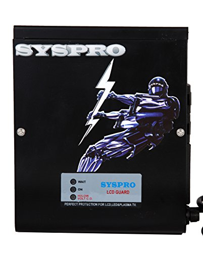 SYSPRO Turbo Plus Voltage Stabilizer for LED/LCD TV + Set Topbox Upto 75 Inch 100% Copper with 5 Year Warranty and Wall Mountable