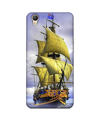 S SMARTY Sea Ship Printed Hard Case Mobile Back Cover for Oppo A37