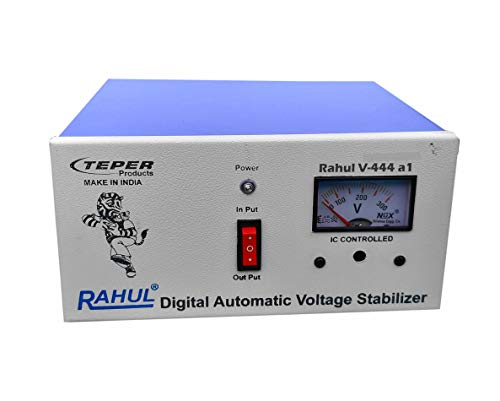 "Rahul V-444 a1 Kva/4 ampere 100-280 Volt 5 Booster Air Coolers/1 LCD, LED, Smart, Android TV Up to 96""/1 Computers/Washing Machine without Heater (0.5 HP) Mainline Automatic Voltage Stabilizer"
