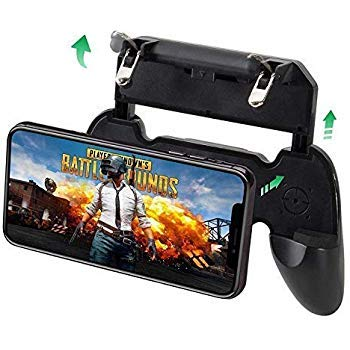 SYSTEM BREAKER 2 in 1 PUBG Mobile Game Controller and Mobile Gamepad Holder Handle Joystick Triggers L1 R1 Shoot Aim Button(Black
