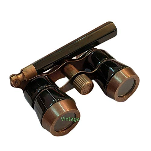 Vintage Art Gallery Antique Brass Binocular with Handle Maritime Collectible Gift