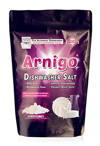Arnigo Dishwasher Salt 1Kg (5 Packets) | Suitable for All Dishwasher Brands