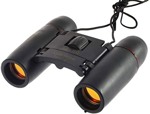 paryavaran ASGH HD Professional Lightweight Pocket Size Binocular Telescope Folding 30x60 Zoom Lens for Sports, Hunting, Camping for Bird Watching(Black)