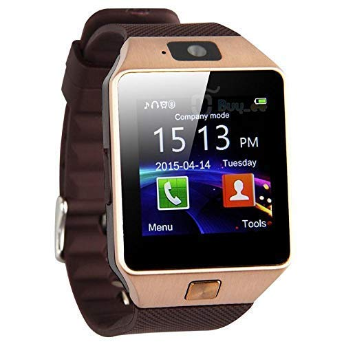 lionmati Electronic Smartwatch Bluetooth with Camera Sim Card Supported, Health Fitness Tracker Smart Watch for Men's Boys and Girls(DZ09)