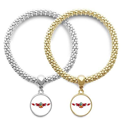 DIYthinkerPeru Flag National Emblem Lover Bracelet Bangle Pendant Jewelry Couple Chain Gift