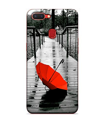 S SMARTY Red Umbrella Printed Hard Case Mobile Back Cover for Realme 2