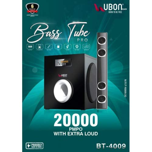 Shopper's Den Ubon Bass Tube Pro BT - 4009 Extra Loud Sound Effect with Extra bass for Home