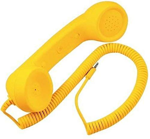 King Shine Coco Phone Radiation Free Phone 3.5mm Wired Retro Handset Receiver (Multi Color) (Yellow)