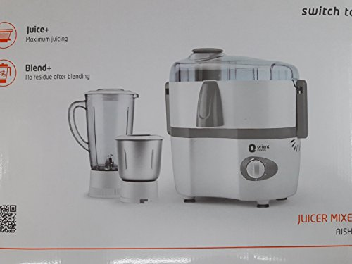 Orient Electric Mixer Grinder, 2 Jars (White)