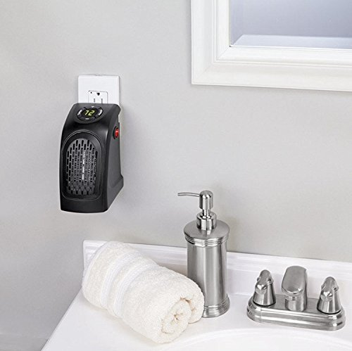 Flipco Wall-Outlet Electric Heater Handy Heater for Dens, Reading nooks, Work, bathrooms, Dorm Rooms, Offices, Home Offices, Campers, Work Spaces, Benches, basements, garages and More.