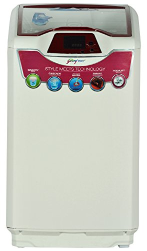 Godrej WT EON 651 PF Fully-automatic Top-loading Washing Machine (6.5 Kg, Metallic Grey and Red Top)