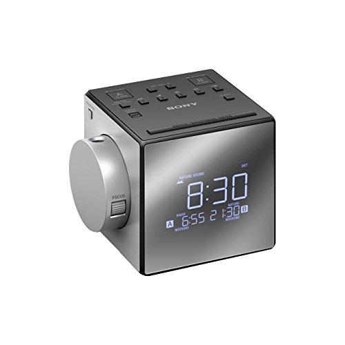 Sony ICF- C1PJ.CED AM / FM Projection Alarm Clock Radio Dual Alarm LED screen 700mW digital clock Grey