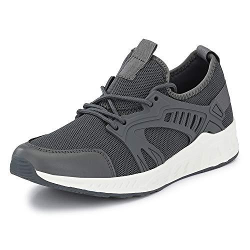 Klepe Men's Grey Running Shoes-7 UK (41 EU) (8 US) (KP831/GRY)