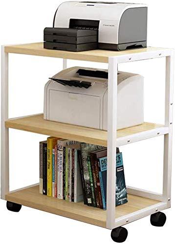 INDIAN DECOR. 45181 Printer Racks Floor Printer Shelf Mobile Printer Stand Office Copier Bracket Multi-Layer fax Rack Kitchen Microwave Oven Rack (Color : Black, Size : 50 * 40 * 70cm)