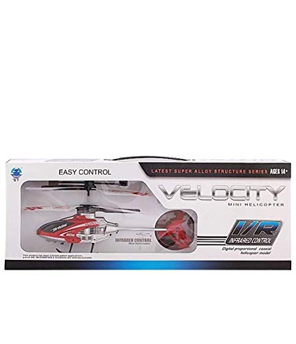 Spinstrr Radio RC Flying Velocity Helicopter with Unbreakable Blades Infrared Sensors (Multicolour) with Rechargeable Batteries Features