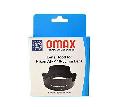 Omax Lens Hood for Nikon d5600 af-p 18-55mm vr Lens (Bayonet Type Lens Hood)