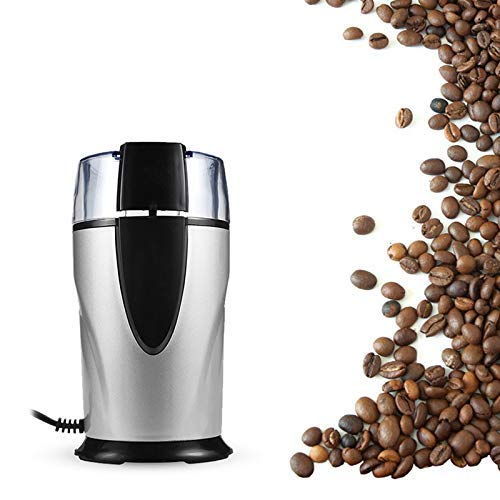 Hiru Coffee Grinder Electric - Small & Compact Simple Touch Blade Mill - Automatic Grinding Tool Appliance for Whole Coffee Beans, Spices, Herbs & Nuts (L-4,W-4,H-7=in)