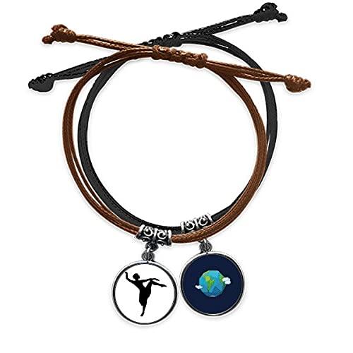 Bestchong DIYthinkerDance Dancer Performance Art Sports Bracelet Rope Hand Chain Leather Earth Wristband