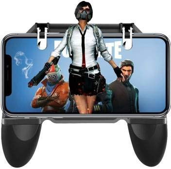 Boka Retails AK66 6 Finger All-in-One PUBG Mobile Remote Controller Gamepad -Black