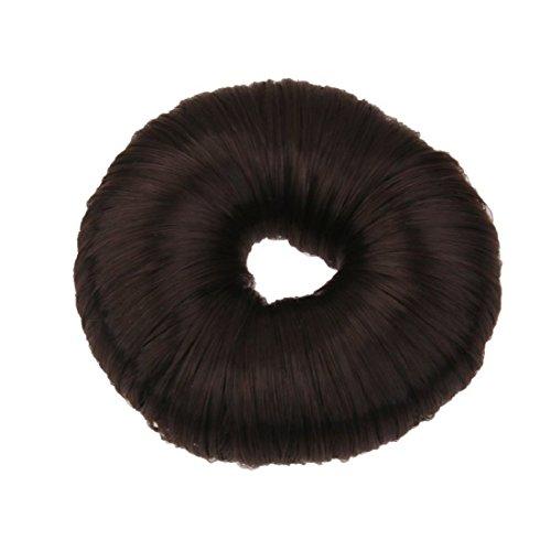 JAMPAK™ Imported Fashion Hair Doughnut Bun Ring Shaper Hair Donut Style Updo Pure Black