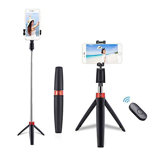 Photron Mobile Stedy 500 Tripod with Smart-Phone Holder |Travelling | Maximum Operating Height: 710mm(2.3Feet) | Weight Load Capacity: 300g, Bluetooth Controller Included