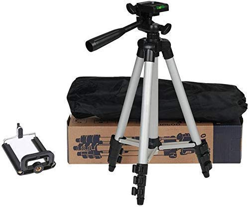 Ruhi Collection Store 3110 Tripod Stand for Phone and Camera Adjustable Aluminium Alloy Tripod Stand Holder for Mobile Phones & Camera,Photo/Video Shoot