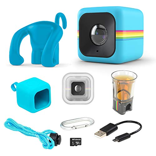 Polaroid Cube Act II ? HD 1080p Mountable Weather-Resistant Lifestyle Action Video Camera & 6MP Still Camera w/Image Stabilization, Sound Recording, Low Light Capability & Other Updated Features