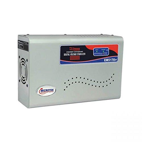 Microtek EM5170+ 170-270V Digital Voltage Stabilizer (Metallic Grey)