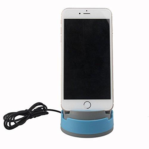 3nh Blue, Lightning : ABCTen Charger 360 Degree Rotation Holder Data Sync Charging Dock For 5 5S 5C 6 6 PLUS 6S 6S PLUS 7 7 PLUS SE