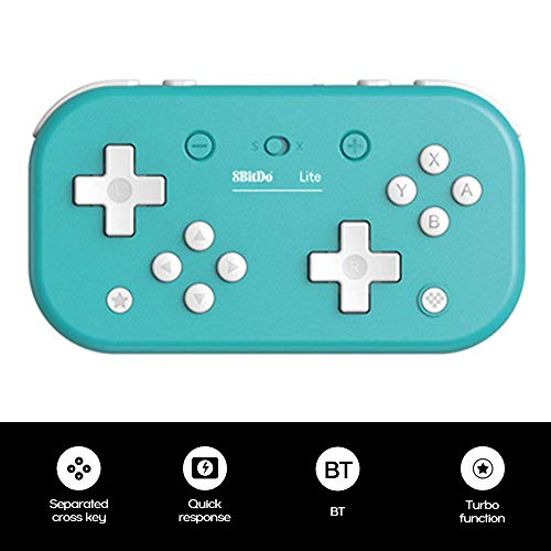 Layfuz 8B-itdo Lite BT Gamepad Compatible with Switch W-indows Steam Raspberry Pi W-ireless USB-C Connection Portable Game Controller (Blue)