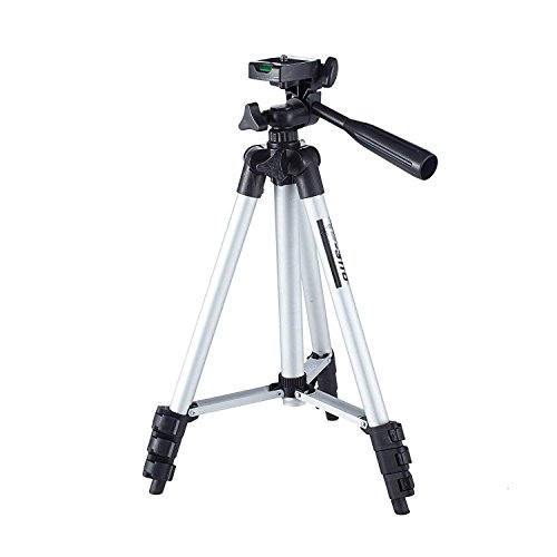FLYING NEXT Tripod-3110 40.2 Inch Portable Camera Tripod with Three-Dimensional Head & Quick Release Plate for Canon Nikon Sony Cameras Camcorders with Mobile Clip Holder